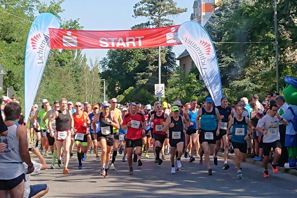 Solche Massenstarts wie beim Sachsenlauf 2019 wird es bei der diesjährigen Veranstaltung nicht geben.
