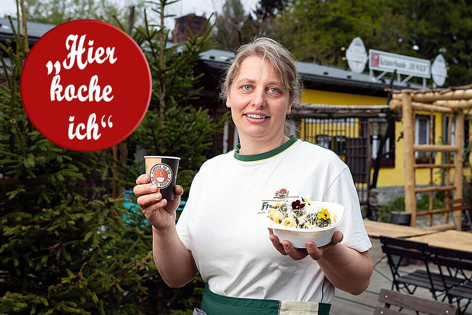 Janet Hoffmann von der Kräuterbaude in Saupsdorf hofft auf die baldige Wiedereröffnung.