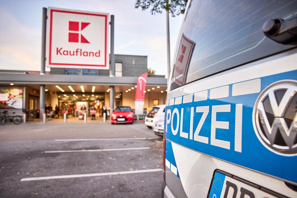 Polizeieinsatz im Supermarkt: Im Kaufland auf dem Sonnenstein wurde ein Täter überführt.