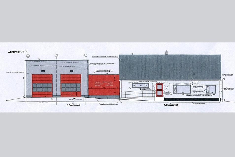 Die Gemeinde entschied sich gegen ein Feuerwehrgerätehaus von der Stange und verband stattdessen ein Bestandsgebäude mit einem Neubau. Von Anfang an wurde die Feuerwehr in das Vorhaben einbezogen.