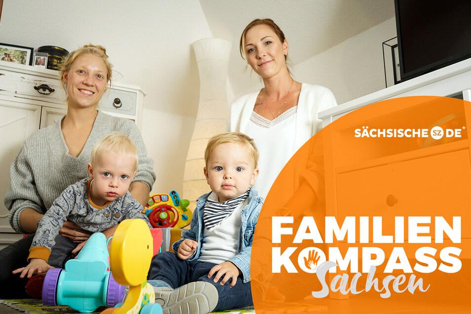 Kerstin Lawan (l.) suchte nach ihrem Umzug nach Bautzen lange nach einem Kinderarzt für ihren Sohn Gustav. Auch die Bautzenerin Isabelle Winter telefonierte viele Ärzte ab, bis sie für Bennet einen Termin bekam.