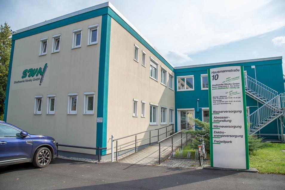 Der Verwaltungssitz der Stadtwerke Niesky.