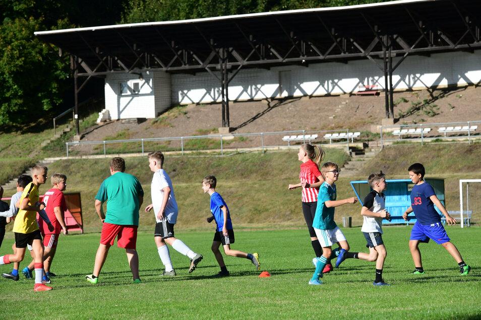 Die Nachwuchssportler des SC Großschweidnitz-Löbau trainieren jede Woche im Löbauer Stadion