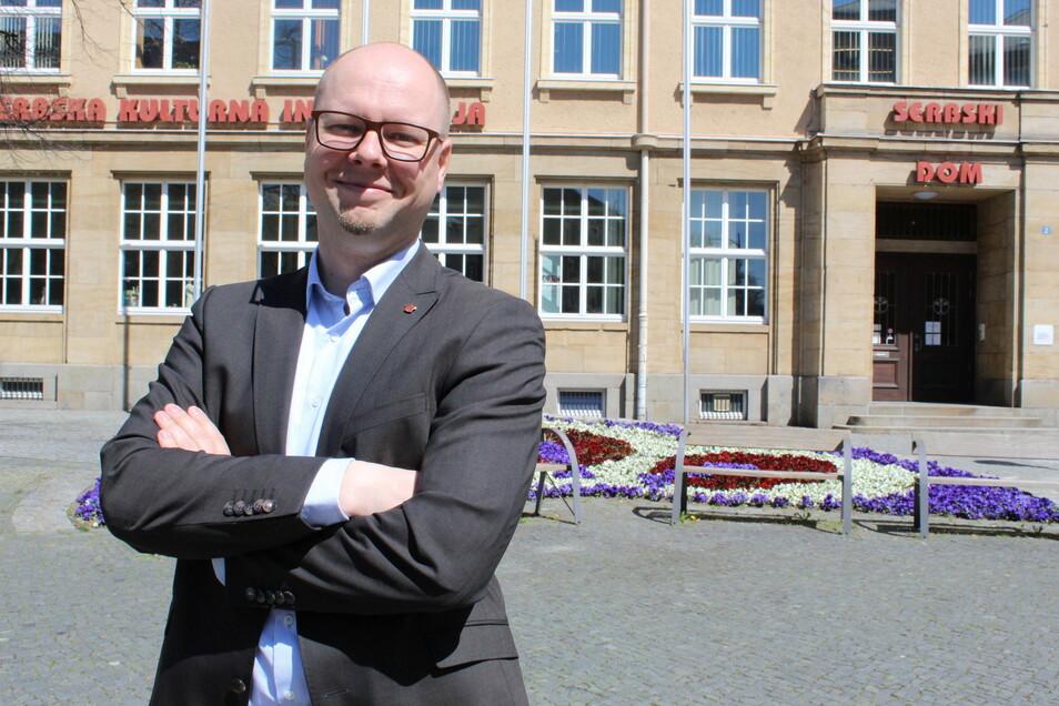 Domowina-Chef Dawid Statnik will am 12. Juni erneut Vorsitzender des Bundes Lausitzer Sorben werden.