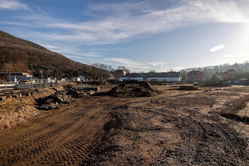Noch eine Industriebrache, bald eine blühende Landschaft: Freital bekommt einen neuen Park.