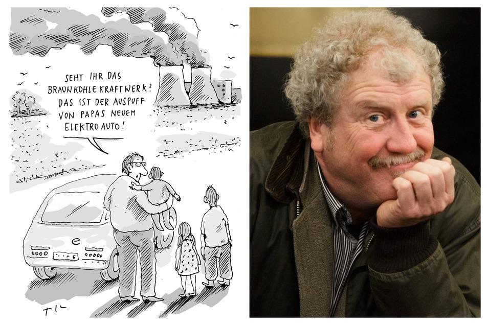 """Die Karikatur zum Thema """"Prima Klima"""" von Till Mette wurde vom Publikum zum Liebling gewählt."""