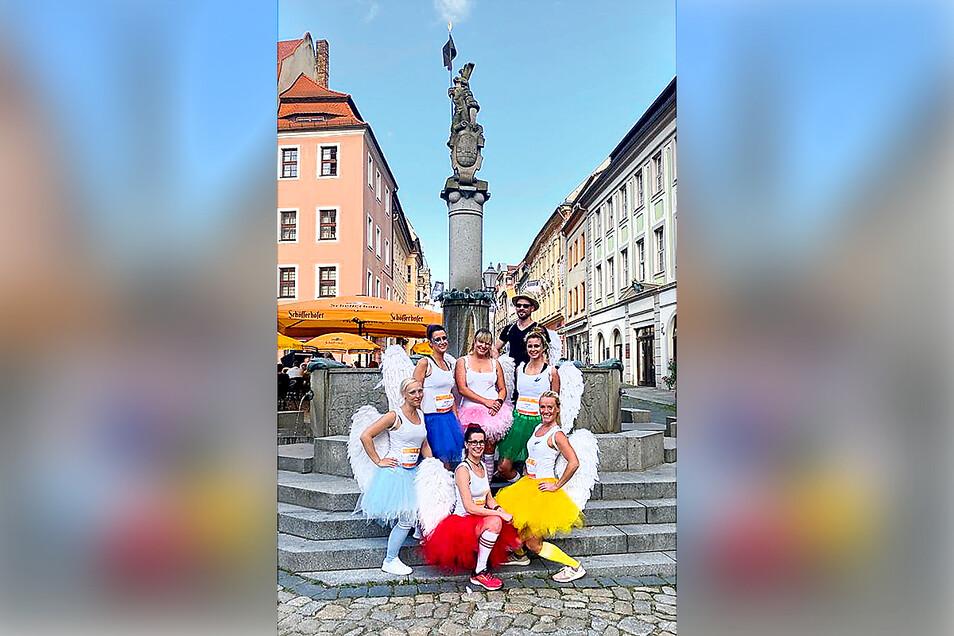 Kreativstes Team beim virtuellen DAK-Firmenlauf Bautzen 2021 wurde die Truppe Angels in Motion.