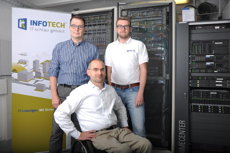 Geschäftsführer Jan Weikert, Heiko Kammler und Administrator Sebastian Michel (v.l.n.r.)