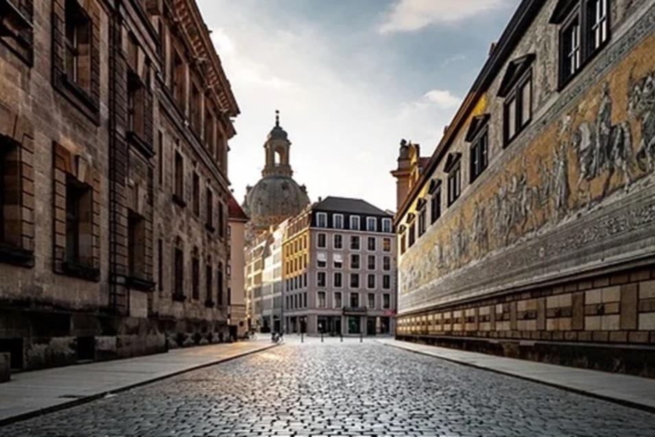 Leere Stadt Dresden