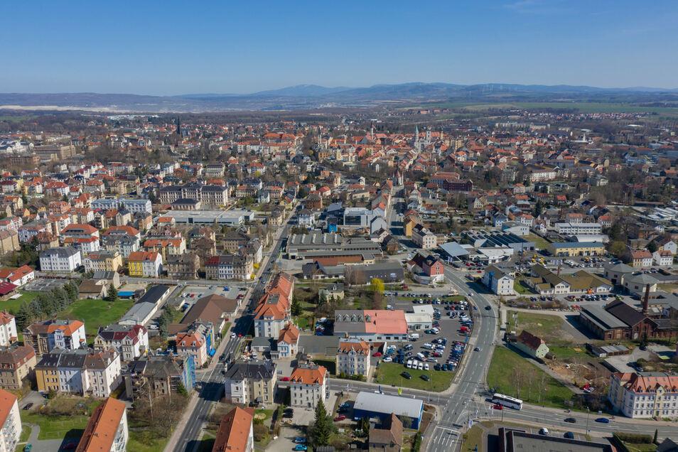 Ein Blick auf Zittau. Das Luftbild entstand 2019.