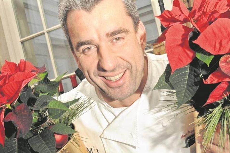 In Gerd Kastenmeiers Restaurant weihnachtet es schon – verheißt die Dekoration. Und auch in Kastenmeiers Küche ist man ganz auf die Feiertage eingestellt, diesmal mit Wild.F: Brühl