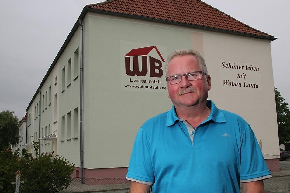 Klaus Weickert (62) ist seit 2007 Geschäftsführer der Wobau Lauta.