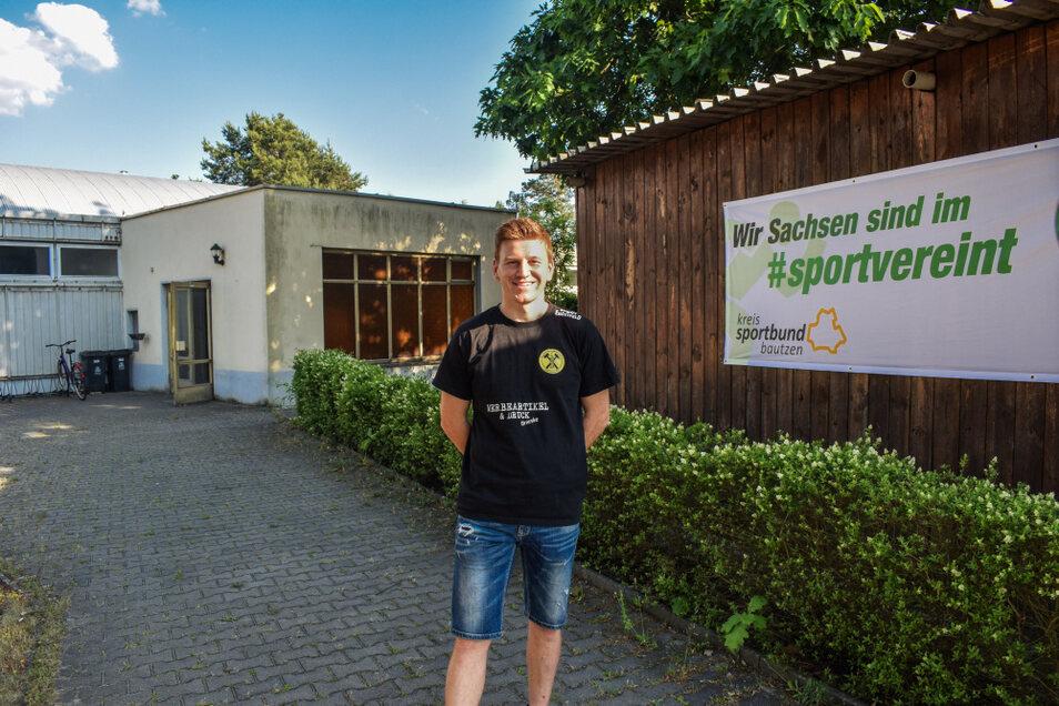 Sven Dankhoff, SV Glückauf-Vorsitzender, hätte gerne einen oder mehrere Trainer an seiner Seite, die sich im Bereich Kindersport engagieren, und so ein Nachmittagsangebot für Kita-Kinder in Knappenrode möglich machen.