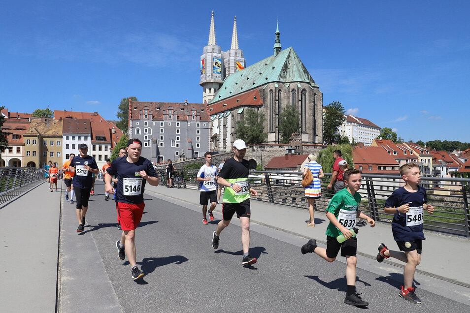 Damals wurde noch grenzüberschreitend von Görlitz nach Zgorzelec gelaufen: Europamarathon 2019.