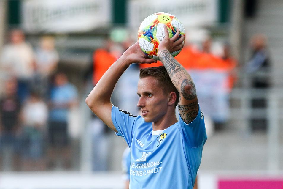 Paul Milde wirft weiter für den Chemnitzer FC ein.