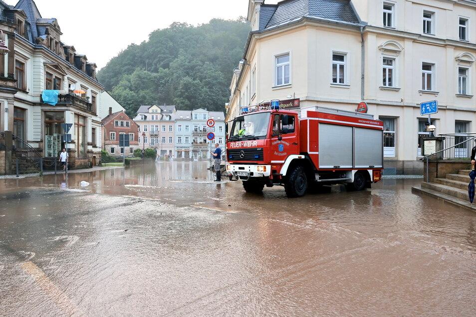 Die Feuerwehr war im Dauereinsatz, nicht nur in Bad Schandau. Auch Sebnitz hat das Unwetter hart getroffen.