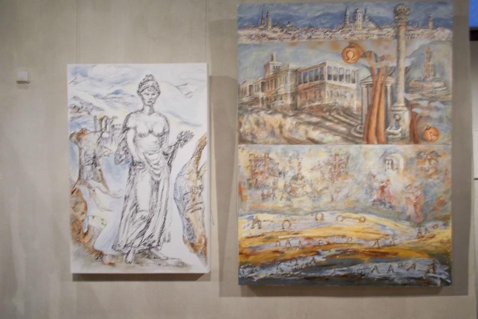 Die Malerin Gabriele Watterott widmet sich bekannten Motiven aus ihrer Heimatstadt Zittau.