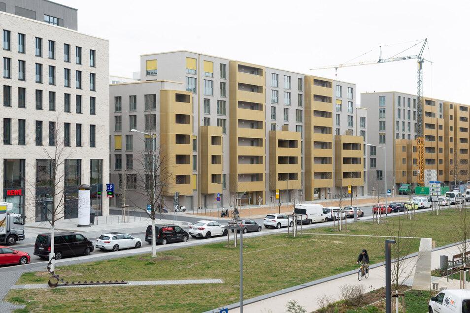 Wie auf der Wallstraße entstehen derzeit viele neue Wohnungen in Dresden.