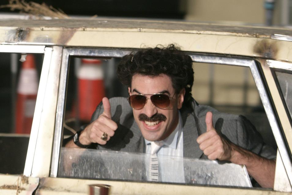 Der britische Komiker Sacha Baron Cohen will nicht mehr ihn die Rolle von Borat schlüpfen.
