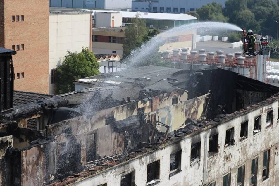 Die Beamten konnten zunächst nicht ausschließen, dass das Feuer absichtlich gelegt worden war. Die Höhe des Sachschadens ist bislang noch nicht beziffert.