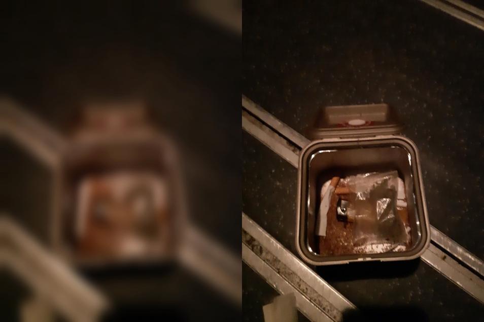 In dieser Tabakdose fanden die Beamten das Marihuana.