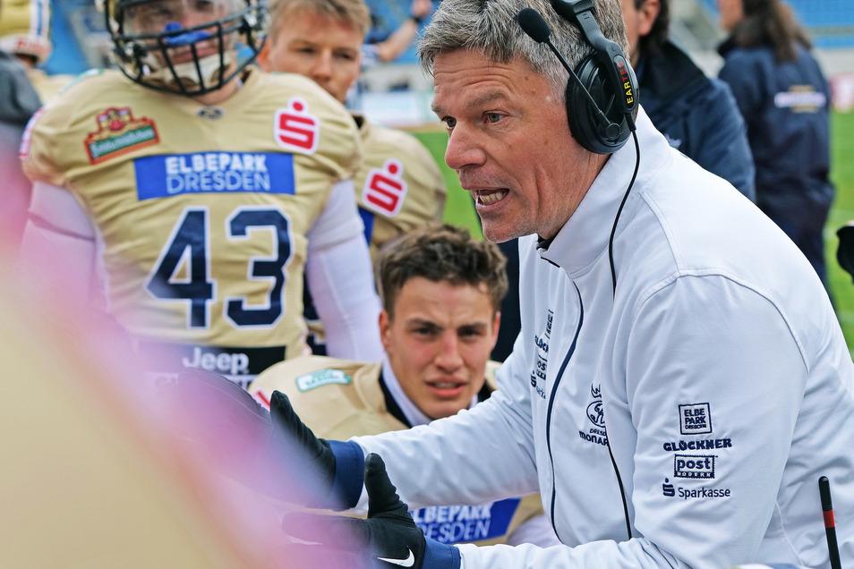 Monarchs Cheftrainer: Ulz Däuber konnte mit der Leistung in Düsseldorf zufrieden sein.