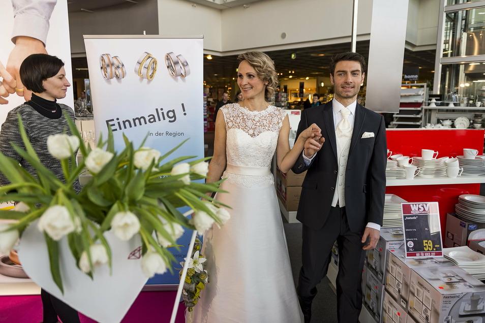 Im Möbelhaus Porta in Görlitz fällt die traditionelle Hochzeitsmesse 2021 aus.