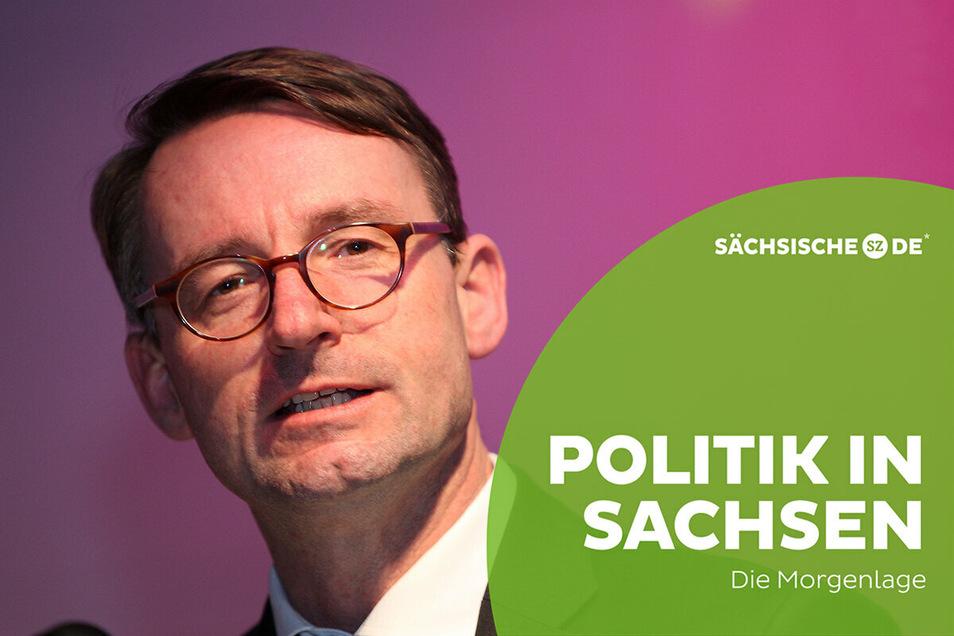 Innenminiser Roland Wöller (CDU) räumt ein, dass die sächsische Polizei ein Problem mit Rechtsextremismus hat.
