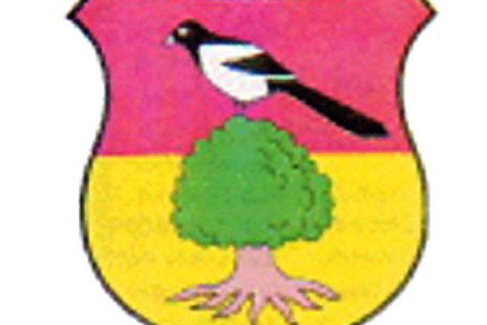 Das Wappen der Stadt Elstra.