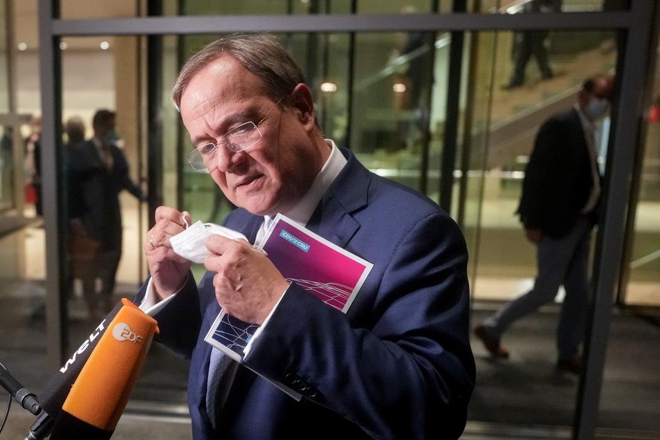 Armin Laschet, Unions-Kanzlerkandidat, CDU-Bundesvorsitzender und Ministerpräsident von Nordrhein-Westfalen.