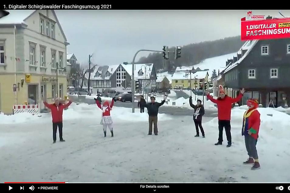 Den ersten digitalen Faschingsumzug des Schirgiswalder Faschingsclubs verfolgten am Sonntag knapp 600 Zuschauer.