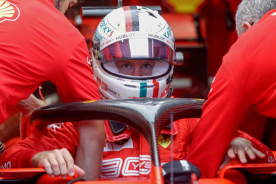 Sebastian Vettel hat beim Ferrari-Heimspiel in Monza nichts zu lachen.