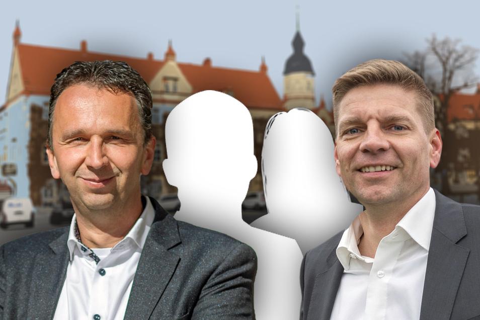 Amtsinhaber Marco Müller (l.) und Stadtrat Gunnar Hoffmann (r.) haben ihre Kandidaturen die OB-Wahl am 4. Juli erklärt. Ob es noch weitere Bewerber geben wird? Bis Donnerstagabend müssen Wahlvorschläge bei der Stadt eingereicht sein.