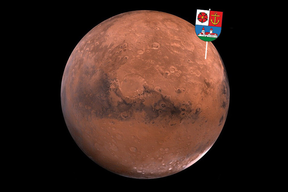"""Der Mars ist auch als der Rote Planet bekannt. Sein Durchmesser ist reichlich halb so groß wie der der Erde. Kürzlich landete die Sonde """"Perseverence"""" auf dem Erdnachbarn – mit Nachrichten aus Riesa an Bord."""