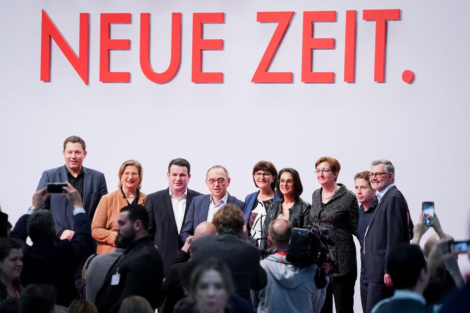 Die neugewählte SPD-Parteispitze.