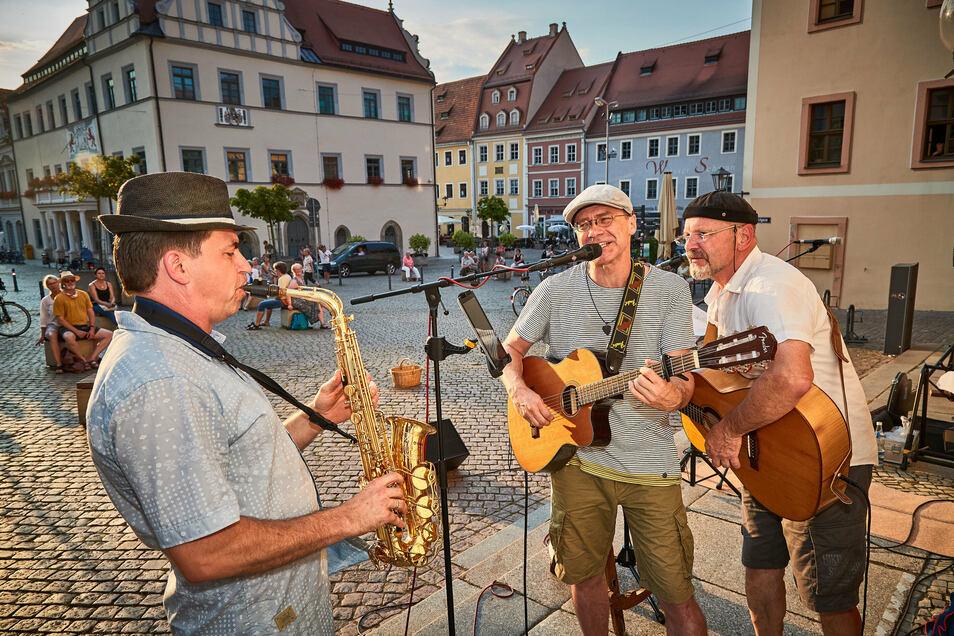 Am 8. August waren Christian Helm (l.) und Kai-Uwe Jahn die Gäste von Peter Lippert (r.).