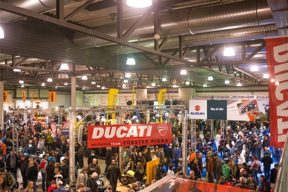 Über 130 Aussteller und alle renommierten Marken waren bei der 21. Motorradmesse mit dabei.