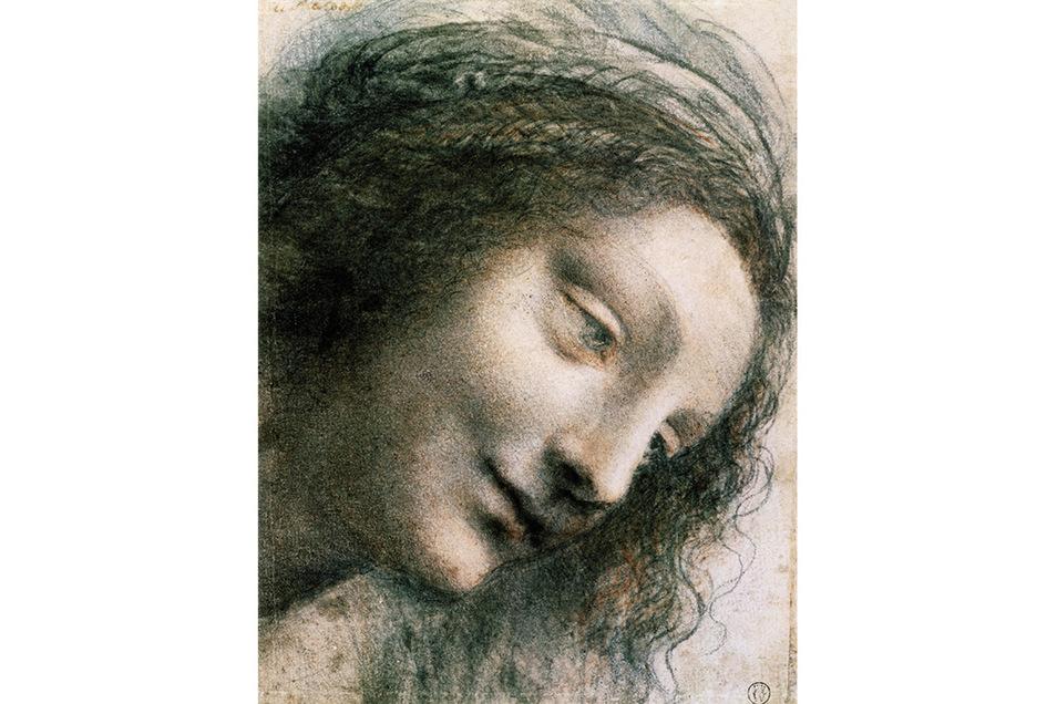 """Maria, Studie zum Gemälde """"Anna Selbdritt"""""""
