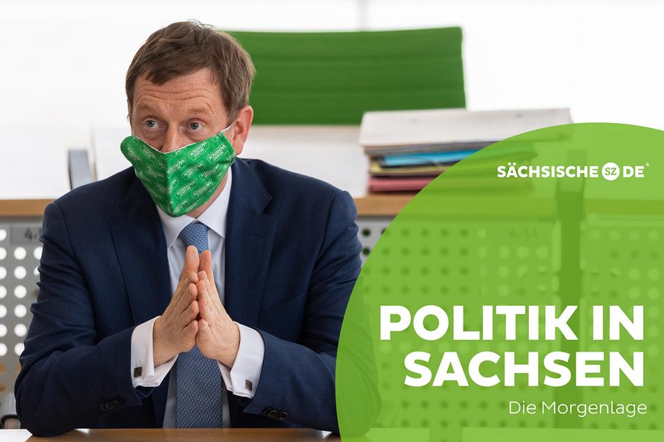 Ministerpräsident Michael Kretschmer in der gestrigen Landtagssitzung