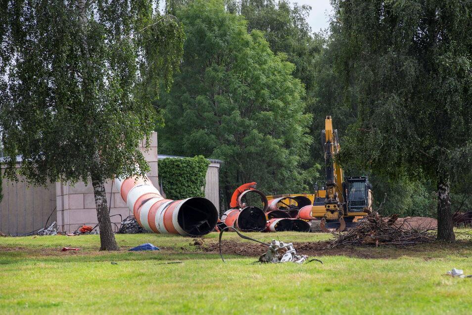 Die Überreste der Riesenantenne sollen Denkmalstatus erhalten. Das möchte der Förderverein Funkturm Wilsdruff erreichen.