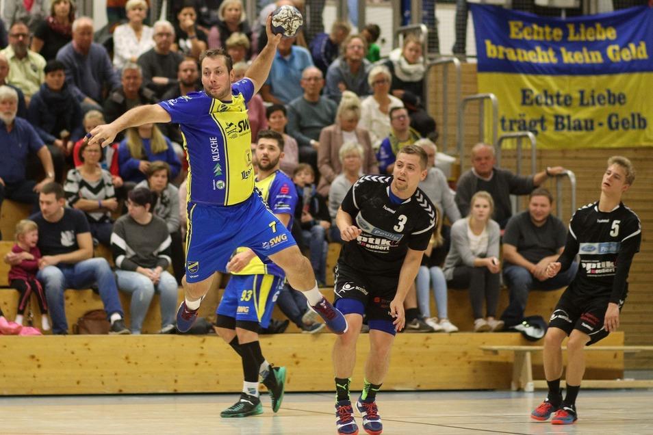 Der Handballer Aurelius Stankevicius ist oft zu schnell für seine Gegner.