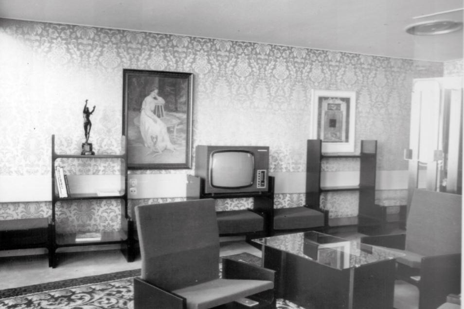 So sah eines der Zimmer 1973 aus.