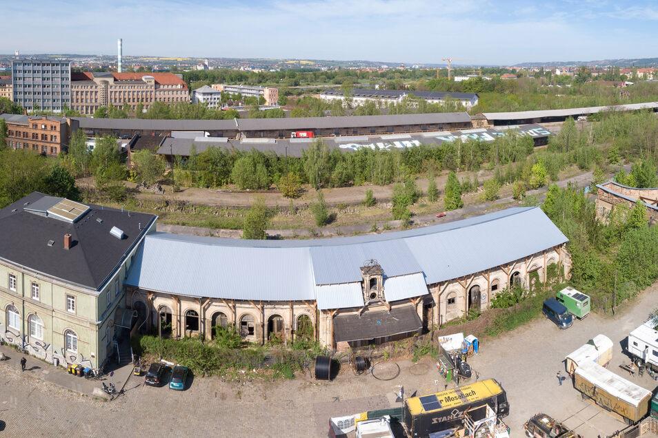Blick auf das Gelände am Alten Leipziger Bahnhof