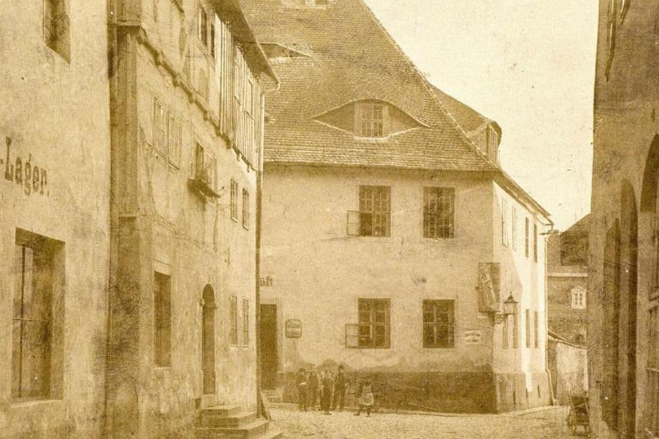 Dieses historische Foto vom Seminargebäude in der Mönchsgasse 7 stammt aus dem Jahr 1892. Aufgenommen hat es damals der Fotograf Curt Herbrig.