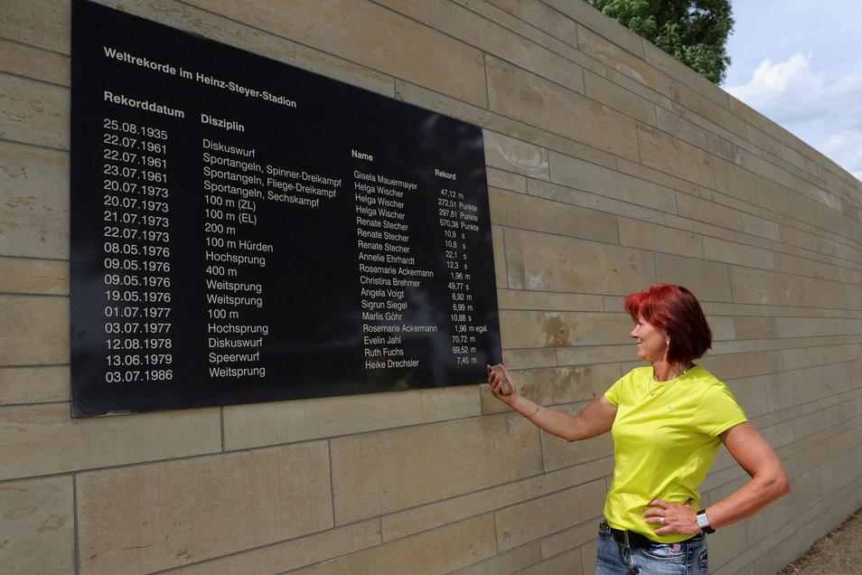 Große, alte, schnelle Zeiten: Am 1. Juli 1977 stellte Marlies Göhr hier über 100 Meter einen Weltrekord auf. Insgesamt 17 gab es bis zur Wende, nicht nur in der Leichtathletik.