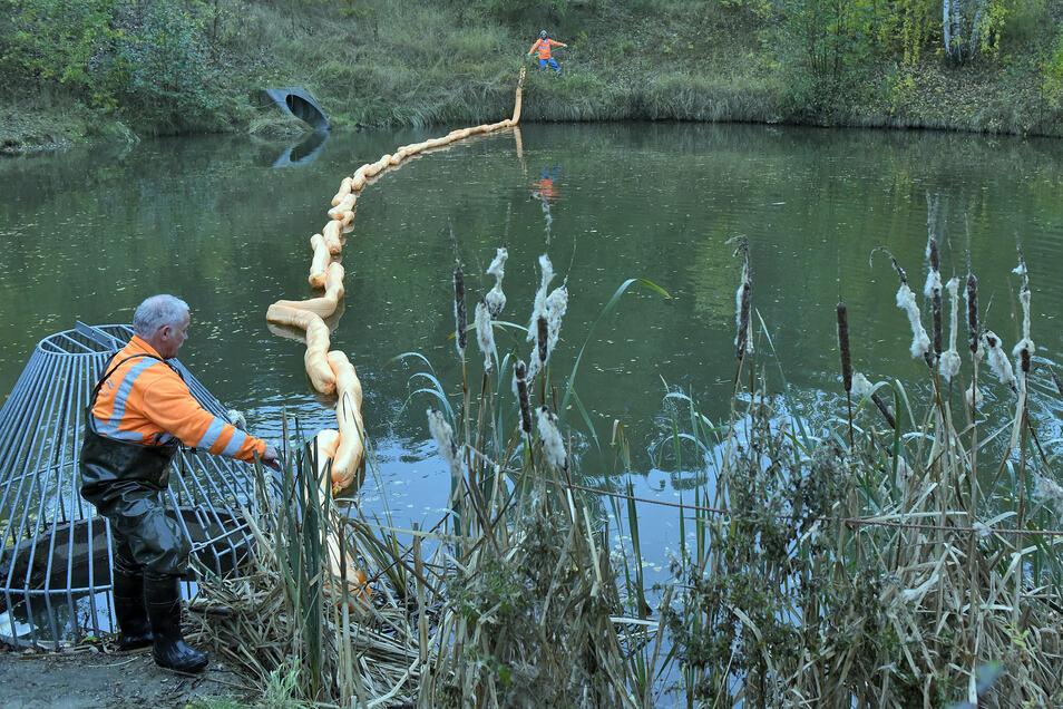 Vor zwei Jahren war am Gewerbegebiet Am Fuchsloch schädliches Styrol in ein Regenrückhaltebecken gelangt. Der Schaden war beträchtlich. Ein Frühwarnsystem soll künftig zeitig Alarm geben.
