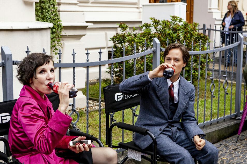 Adieu. Eine der letzten Szenen in Görlitz wurde an der Augustastraße gedreht, mit Meret Becker als Irene Moll und Tom Schilling als Fabian.