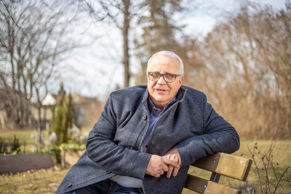 Matthias Zscheile wohnt seit zehn Jahren in Trebus und tritt als Kandidat zur Bürgermeisterwahl in Hähnichen am 25. April an.