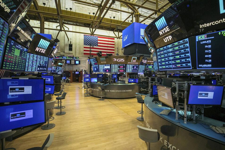 Die New Yorker Börse ist wegen der Corona-Pandemie seit dem 23.03.2020 voll auf elektronischen Handel umgestellt.