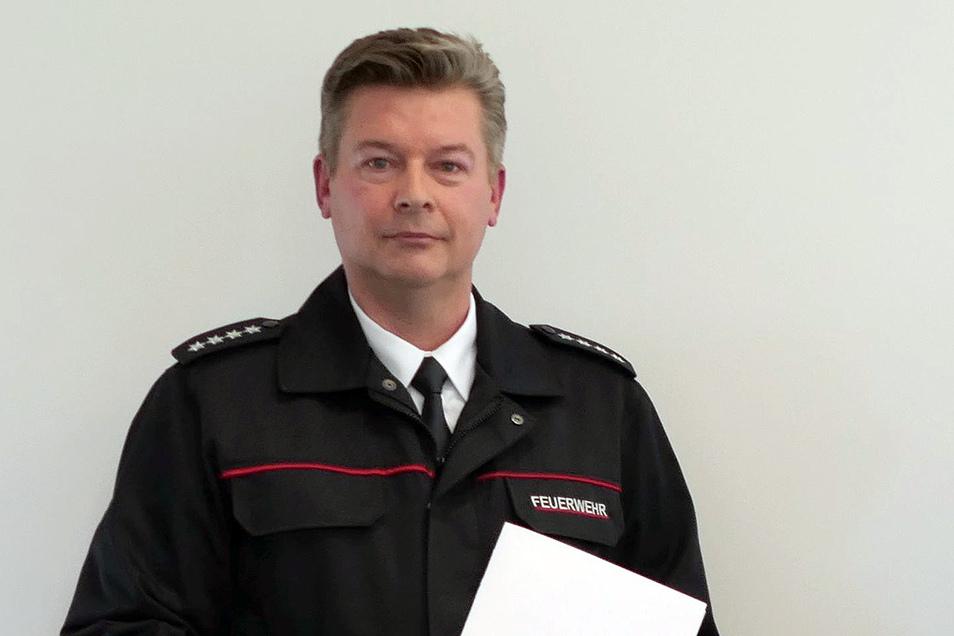 Sachsens neuer Bezirksbrandmeister: Dirk Hartmann.